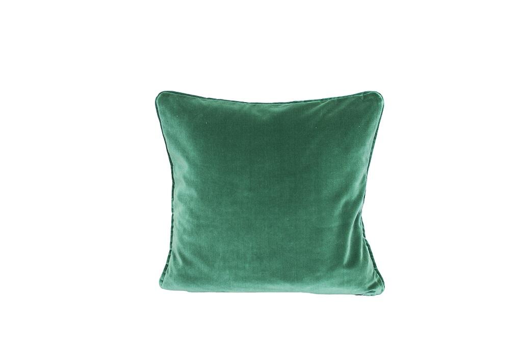 Almofadas  de veludo verde