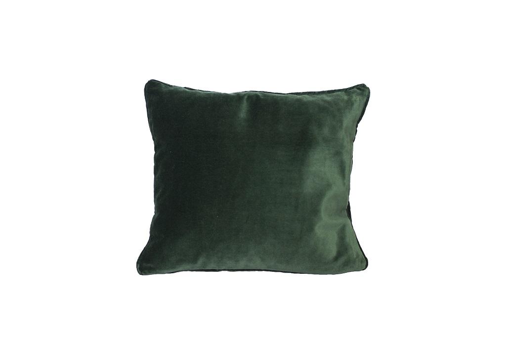 Almofadas de veludo verde escuro