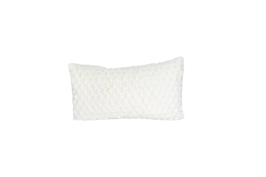 Almofadas de veludo off white