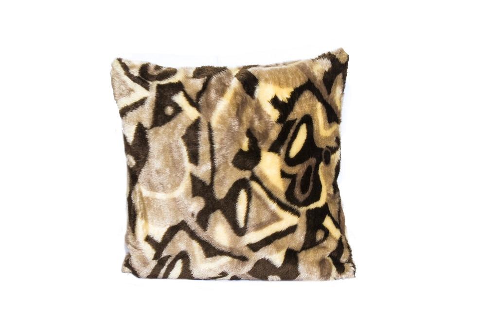 Almofadas de pelúcia geometrica