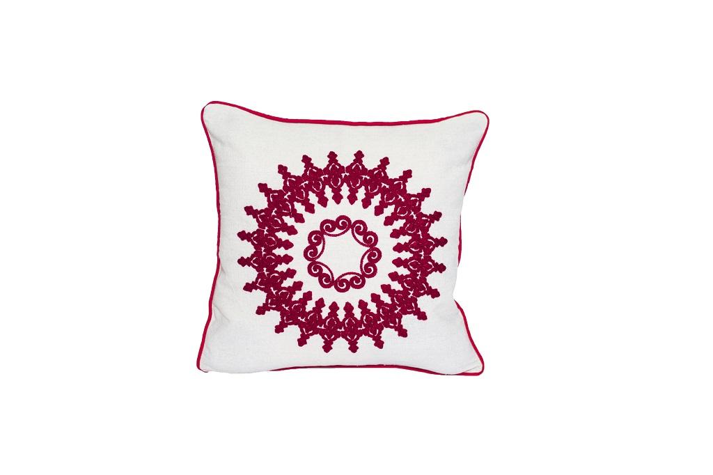 Almofadas bordadas indiano em algodão
