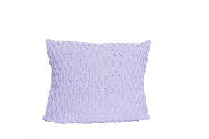 L051 Almofada tricot trabalhado lilas