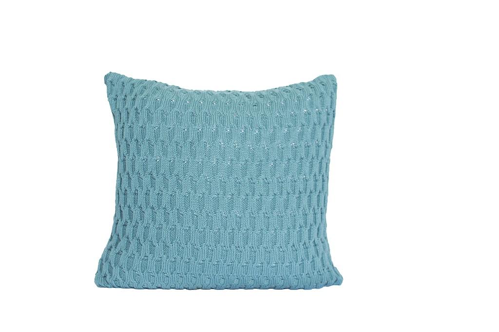Almofadas de tricot trabalhado verde