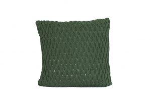 L065 Almofada tricot trabalhado verde exercito